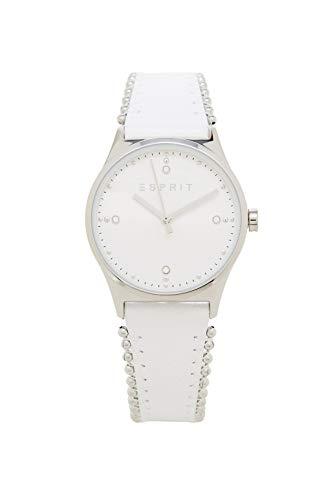 Esprit Damen Analog Quarz Uhr mit Leder Armband ES1L032L0015