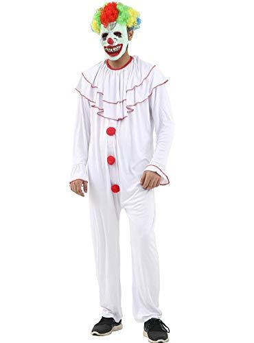 FashioN HuB Disfraz de payaso aterrador para adultos, Da Mundial del Libro de Circo, disfraz de payaso adulto (tamao mediano)