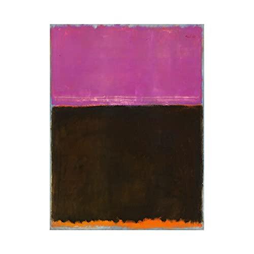 Mark Rothko, carteles e impresiones artísticos en lienzo coloridos abstractos, imágenes artísticas de pared, pinturas de lienzo sin marco familiares A5 20x30cm