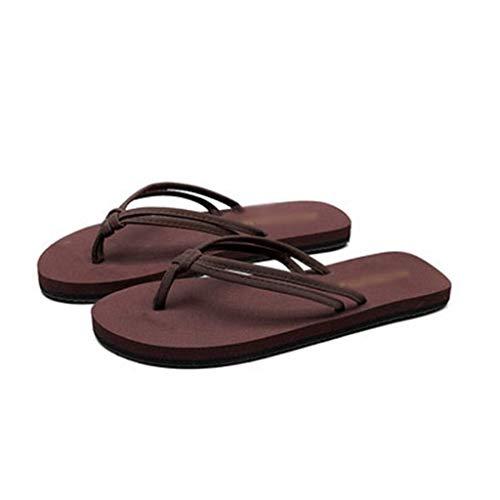 QLIGHA - Chanclas de verano para mujer, sandalias planas, antideslizantes, tacón con plataforma abierta, juego de 2 piezas, adecuadas para adultos