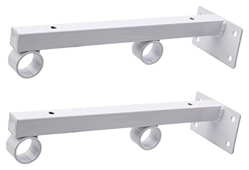 Shelf Bracket Shelve Support Brace Industrial Floating Brackets, Brackets for Wall Shelves Heavy Dusty Metal Shelving Supports Concealed Blind Shelves Brace 2 Pack (Color : White, Size : 400mm)