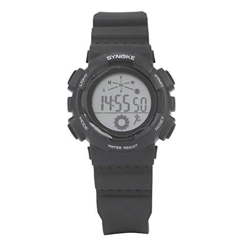 Keenso Reloj Deportivo Unisex para niños Reloj de Encendedor eléctrico Multifuncional LED Reloj Deportivo Digital Resistente al Agua Reloj Digital(Negro)