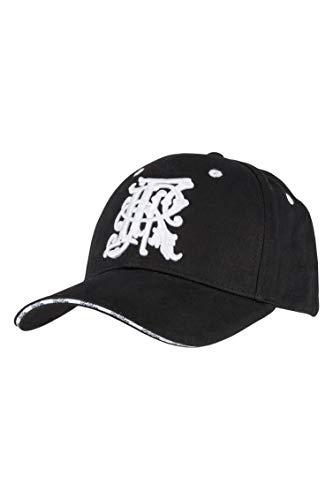 FriRex Logo Baseball Cap schwarz/weiß für Damen und Herren,3D Stick, gelaserte Metalplatte