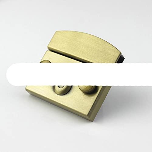 Rectangular Metal Press Push Lock Bag Maletín Cierre de resorte Broches decorativos Cierre de cuero Artesanía Diy Hardware Accesorio-Grande, Bronce