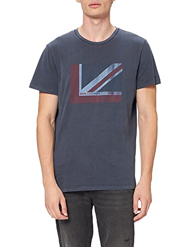 Pepe Jeans Ramone Camiseta, Azul, L para Hombre