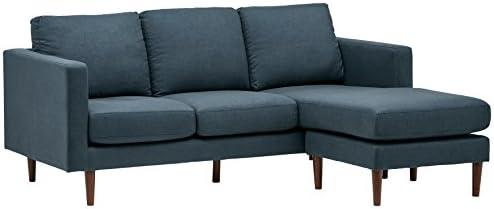 Best Amazon Brand – Rivet Revolve Modern Upholstered Sofa with Reversible Sectional Chaise, 80