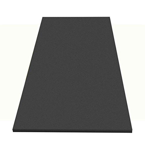 1xAkustikschaumstoff Glatt 200x100x5cm, anth/schwarz, FSE (flammhemmend) Schaumstoff Noppenschaum