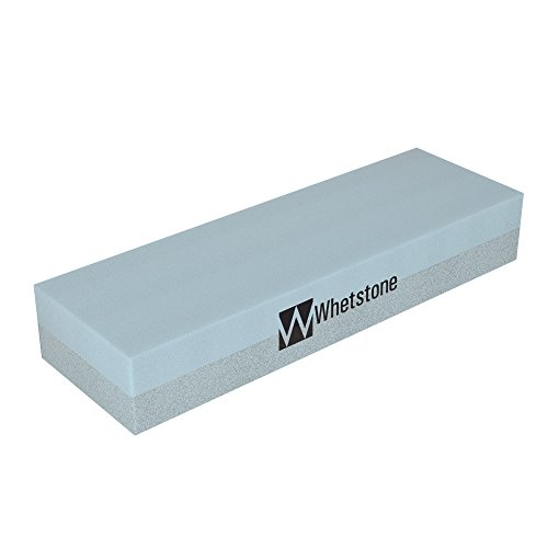 Knife Sharpening Stone – Dual Sided 400/1000 Grit Water Stone – Sharpener Polishing Tool for Kitchen Hunting Pocket Knives or Blades by Whetstone