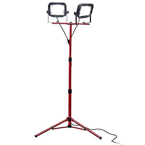 Luceco Slim Twin LED-Baustrahler mit Stativ 2 x 38W, 3 Meter Kabel