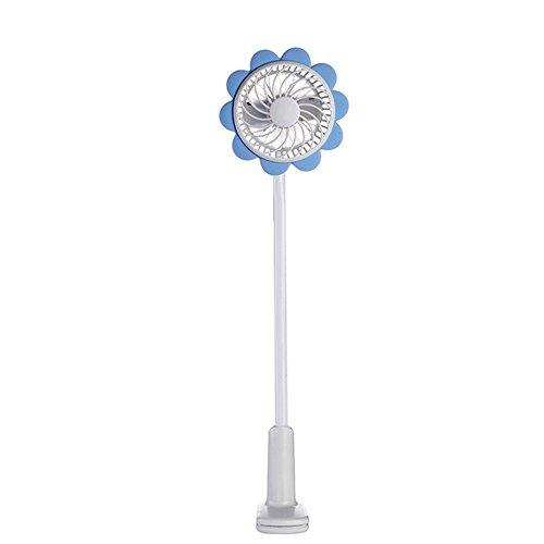 CLKjdz Summer Mini Portable USB Cooler Cooling Desktop Small Cooler Fan Sunflower Baby Cart Fan (blue)