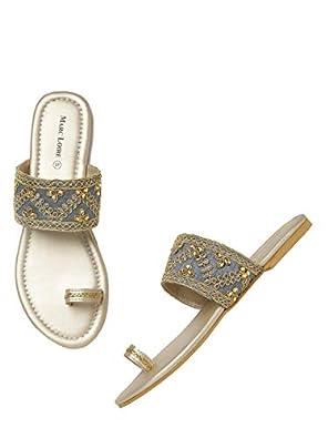 Marc Loire Women's Slip on Casual Flat Sandals Fashion