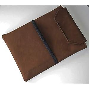 Handmade – Tablet Tasche Hülle Etui Case Sleeve- für Tablet bis 11″ Zoll (Tablet Größe 18 x 25 cm)- Vintage Leder