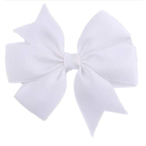 Demarkt Niedlich Schleife Haarclips/Haarspangen Haarschmuck Ribbon Haar-Clips Für Mädchen,Weiß