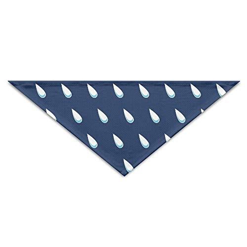 Gxdchfj Blue Rainy Turban Triangle Scarf Bib Scarf Accessories Pet Cat Baby Puppy Saliva Dog Towel