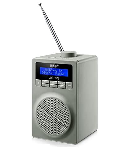 UEME Digitalradio DAB+ DAB UKW Radio (Grau)