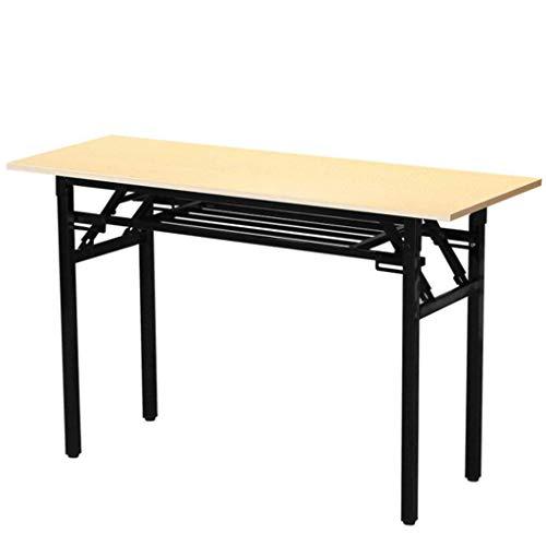 JHEY Klapptisch Konferenztisch Training Tisch Simple Desk Computer Desk Learning Esstisch (Größe : 100 * 60 * 75cm)