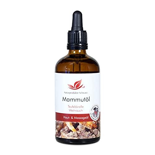 Naturprodukte Schwarz - Mammutöl - Kräuteröl mit Teufelskralle und Weihrauch, 100ml
