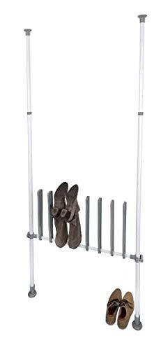 WENKO Stiefelhalter Herkules - Stiefelhalter für 4 Paar Stiefel, ideal für Winterstiefel, Gummistiefel, Reitstiefel, Stahl, 94 x 45 x 6.5 cm, Weiß