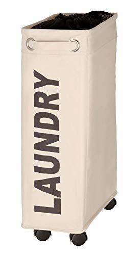 WENKO Wäschesammler Corno, Wäschekorb Fassungsvermögen: 43 l, 18.5 x 60 x 40 cm, beige