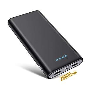 SWEYE Batería Externa 26800mAH Carga Rápida de Power Bank 2 USB Cargar y Luces LED [Ultra Capacidad]Cargador Movil…