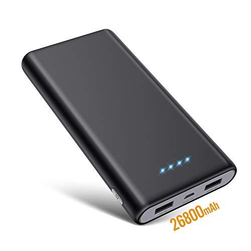 SWEYE Batería Externa 26800mAH Carga Rápida de Power Bank