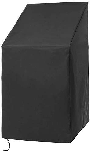 """Patio Chair Covers, Outdoor Stackable Chair Covers, Waterproof Outdoor Furniture Chair Storage Cover Protectors with Adjustable Hem Cord for Better Fit, Outdoor Bar Stools Cover,25""""x25""""x 47"""""""