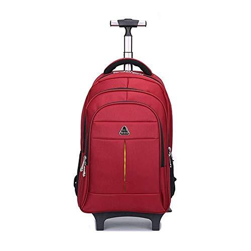 Miaoao-B Overnight Wieltje Laptop Bagage Bag 2 Wielen Zwart, Reistas Zakelijke Boarding Grote Capaciteit Waterdichte Trolley Rugzak, 46x15x30cm