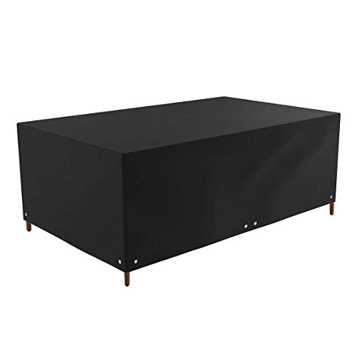 Housse de protection pour meubles de jardin en tissu Oxford 420D imperméable et résistant aux intempéries