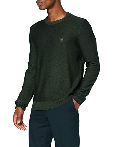 BOSS Mens Anitoba Pullover Sweater, Open Green (346), XL