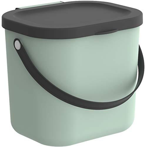 Rotho Albula Aufbewahrungsbox, Kunststoff (PP recycelt), türkis/anthrazit, 6l, (23,5 x 20 x 20,8 cm)