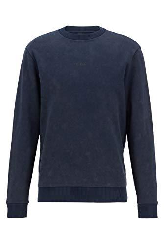 BOSS Herren Wash Sweatshirt, Blau (Dark Blue 404), XL EU