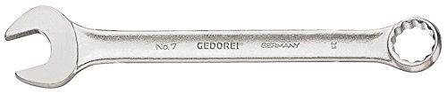 GEDORE Ringmaulschlüssel 6-kant 4 mm, Hochwertiger Vanadium-Stahl, Blendfreie Optik, Nach DIN 3110, Silber