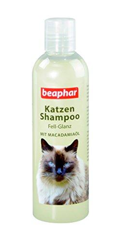Katze Shampoo Fell-Glanz | Katzenshampoo für glänzendes Fell | Mit Macadamiaöl | Zur Katzen-Fellpflege | pH neutral | 250 ml