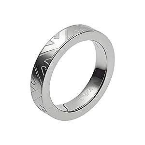 Emporio Armani Herren-Ringe Edelstahl mit - Ringgröße 59 EGS2601040-9, Silber