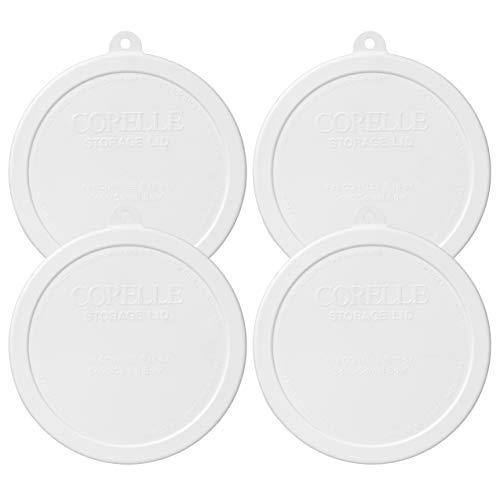 Corelle - Tapa de almacenamiento de plástico (4 unidades), color blanco