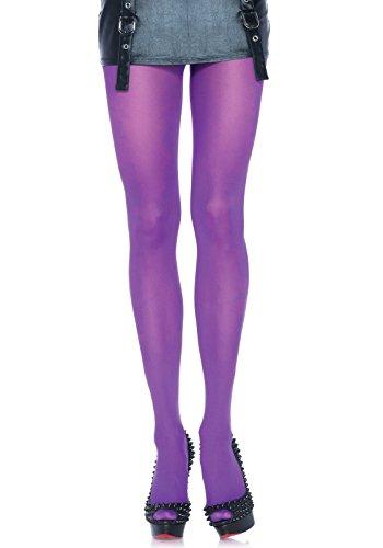 Leg Avenue Women's Plus Size Nylon Tights, Purple
