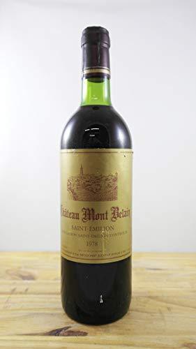 Wein Jahrgang 1978 Château Mont Belair Flasche