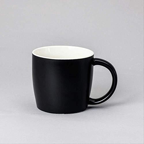 Becher Keramikbecher Mug Keramikbecher Werbegeschenk Wasserbecher 501-600ml Schwarz