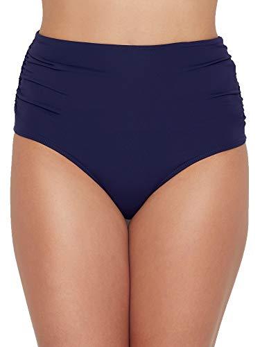 Anne Cole Signature Live in Color Convertible Bikini Bottom, XL, Navy