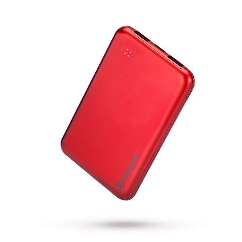 POSUGEAR bateria Externa movil 10000 mAh, PowerBank de Alta Capacidad 2A 2 Puertos con 4 Luces LED, Compatible con iPhone, Samsung, Huawei, iPad, etc.…