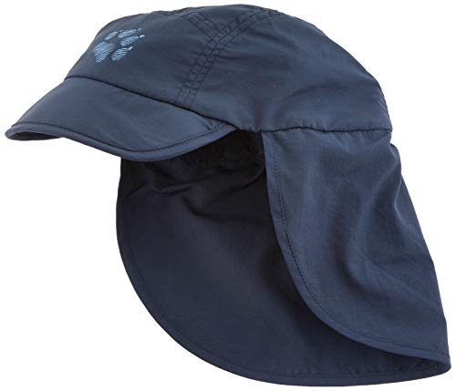 Jack Wolfskin Kinder Supplex Canyon Kids Schnelltrocknende Cap, Night Blue, M
