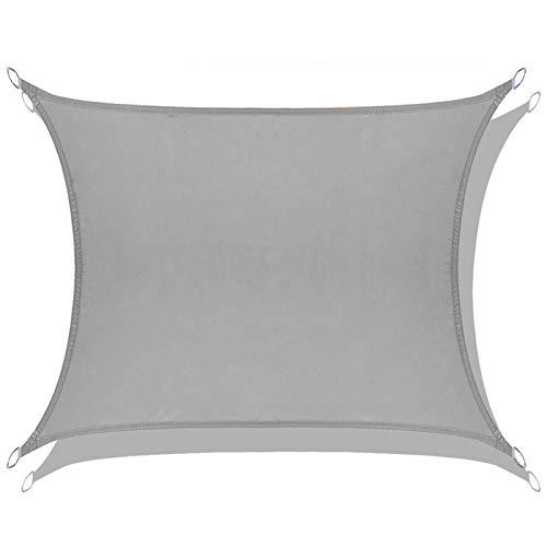 LOVE STORY Tenda da Vela Parasole Impermeabile(PES) Rettangolare 4×4m Grigio Protezione UV per Terrazza Campeggio Giardino Esterno