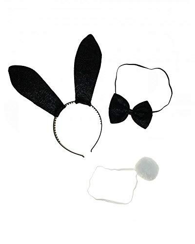 Sonnenscheinschuhe® Kostüm Set Hase sexy Bunny Häschen Hasenohren Fastnacht Fasching Karneval Kostüm
