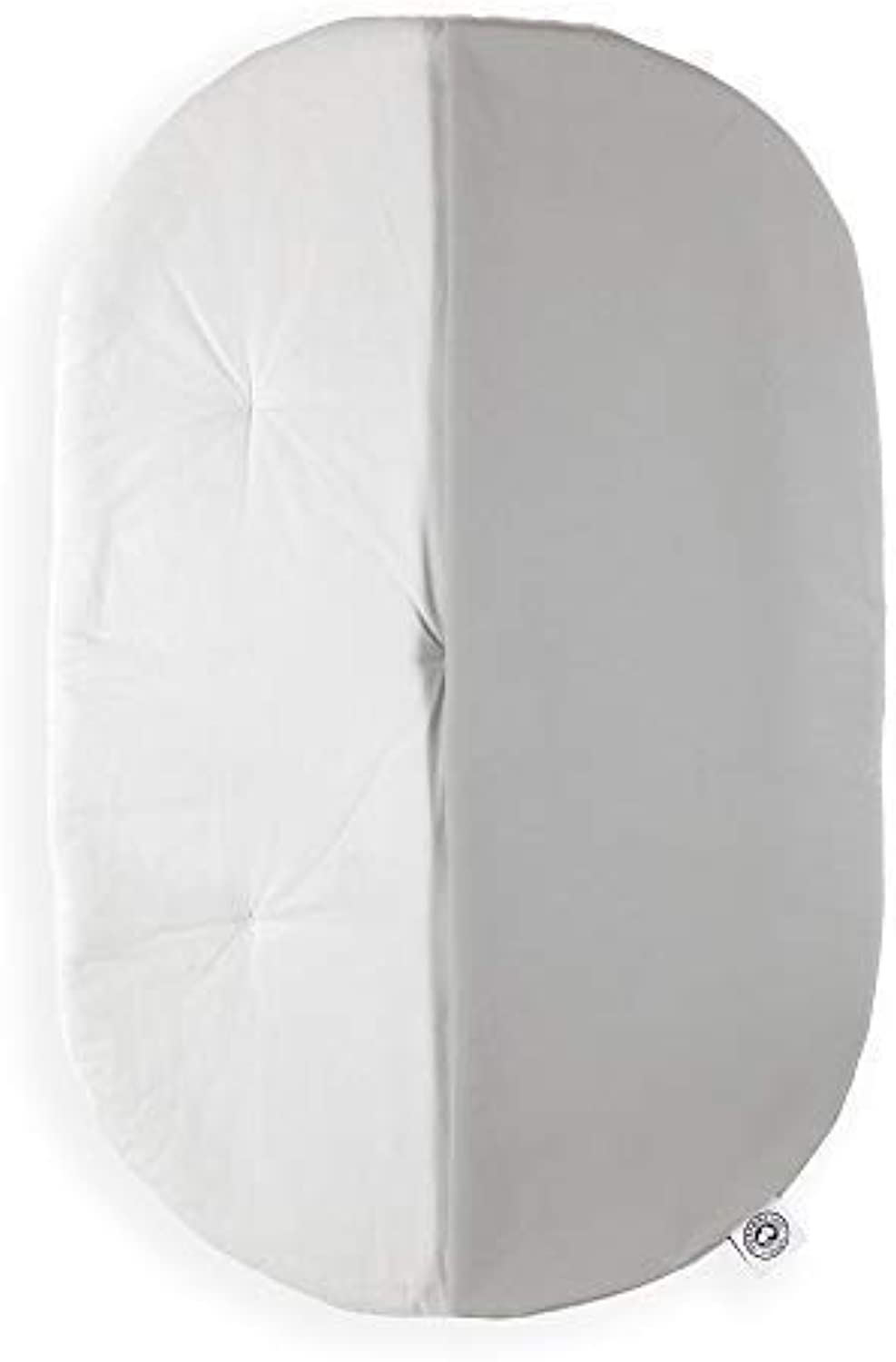 The Topponcino Company   Original Topponcino (Grey)   Montessori-Inspired Infant Security Pillow and Baby Lounger, Natural Cotton