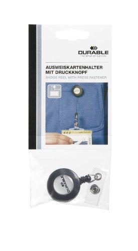 Durable 822658 Ausweiskartenhalter Jojo, 1 Stück anthrazit