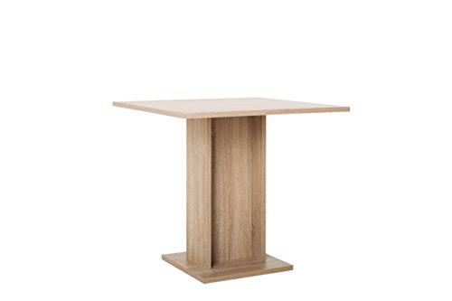 Inter Trade 2425 Table de Salle à Manger, Bois, Chêne Sonoma, 80 x 80 x 75 cm