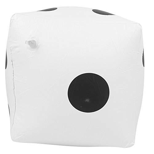 Juguete de Piscina de Dados inflables Gigantes de 15.7 Pulgadas, Dados inflables Suministros de Actividades portátiles para Fiestas en Interiores Accesorios de Juguete para Juegos de césped(Blanco)