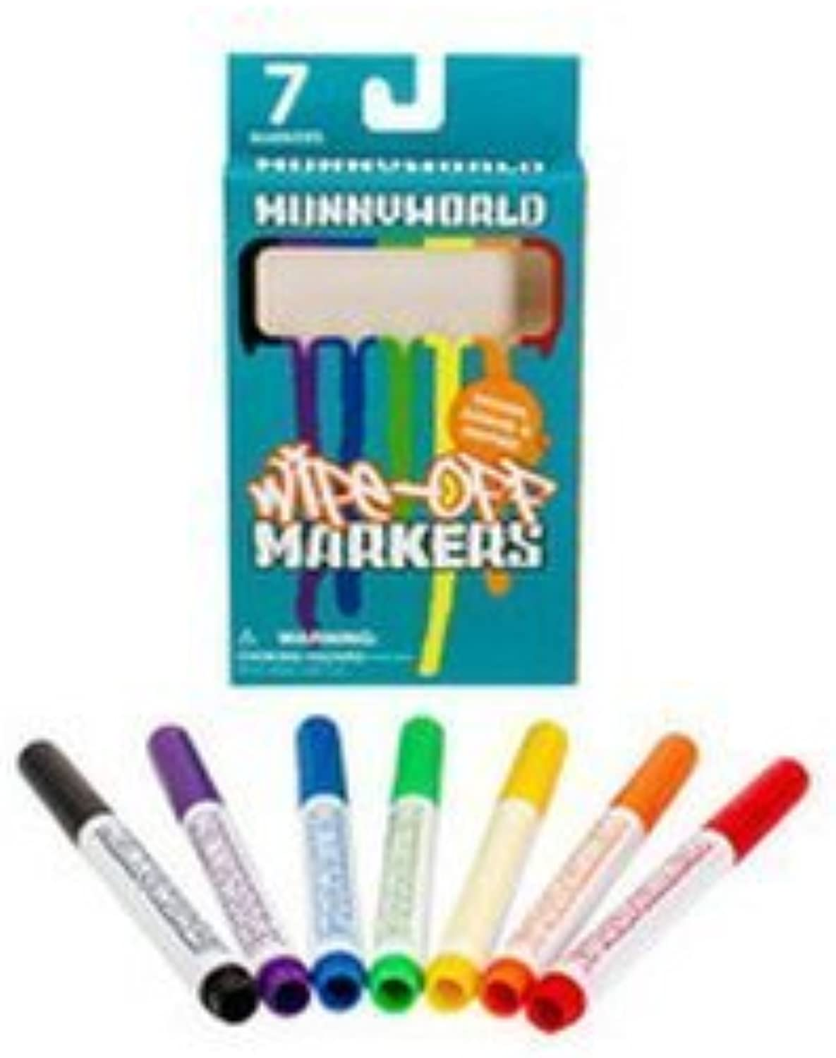 Kidrobot Munnyworld Wipeoff Markers  7 Pack by Munny