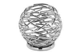 Fink - Corona - Windlicht - Kerzenhalter - Metall vernickelt - Ø 18 cm