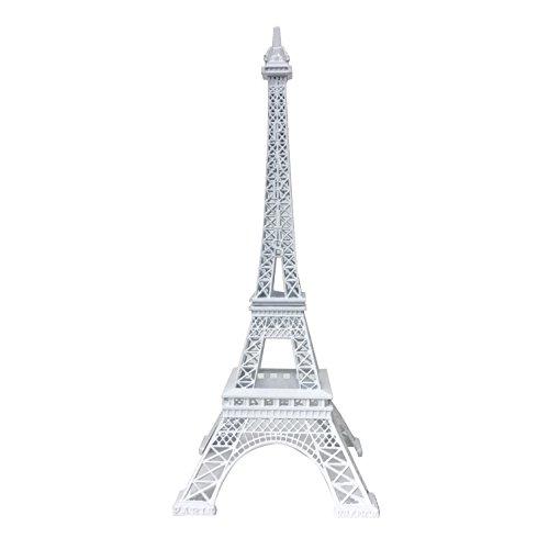 allgala 24' Eiffel Tower Statue Decor Alloy Metal, White
